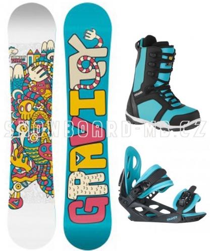 Dětský holčičí snowboard komplet Gravity cc9f57096e