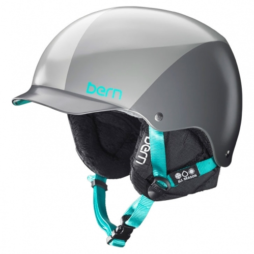 Dámská helma na snowboard Bern Muse grey sunray, dámské přilby s kšiltem - VÝPRODEJ