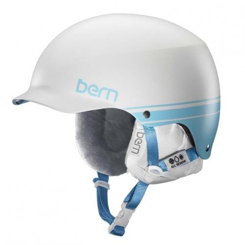 Dámská přilba na snowboard Bern Muse white retro, snowboardové přilby s kšiltem dámské  - VÝPRODEJ