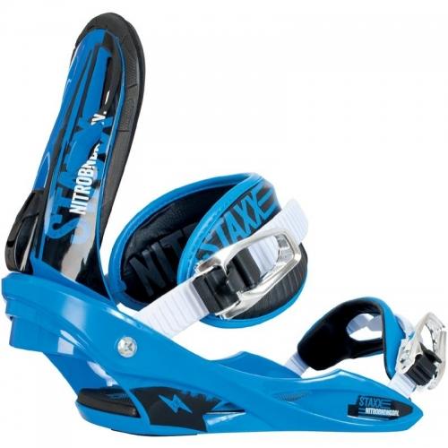Snowboardové vázání na snowboard Nitro Staxx blue / white - VÝPRODEJ