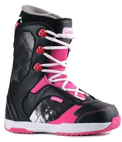 Dámské boty na snowboard Gang Passion, černé/bílé/růžové - VÝPRODEJ