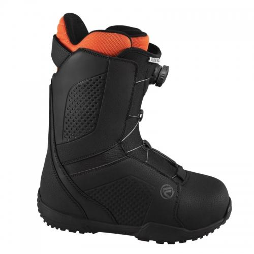 Snowboardové boty Flow Vega Boa black, pánské snb boty s utahovacím kolečkem - VÝPRODEJ