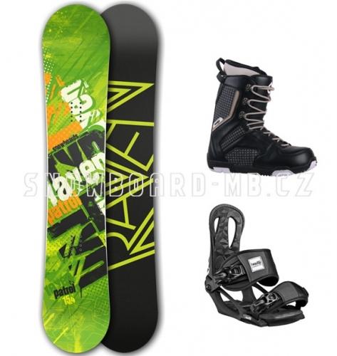 Snowboardový komplet Raven Patrol černý - VÝPRODEJ
