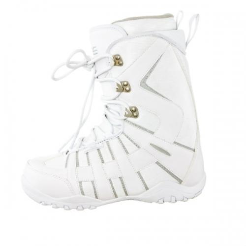 Dámský snowboardový komplet Raven Grid white s botami - VÝPRODEJ