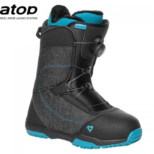 Dámské snowboardové boty Gravity Aura Atop black s utahováním kolečkem - VÝPRODEJ