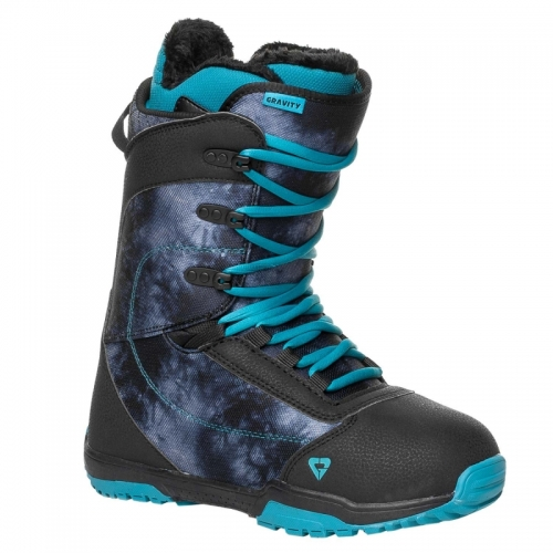 Dámské snowboard boty Gravity Aura black / černé / modré - VÝPRODEJ