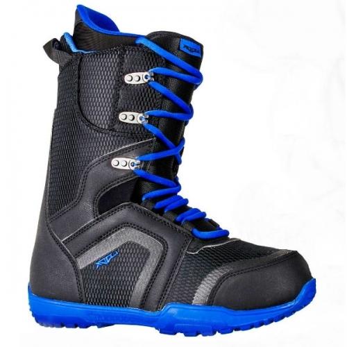 Pánský snowboard komplet Raven Shape black/blue s vázáním a botami Woox - VÝPRODEJ