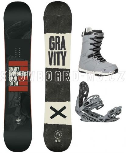 Pánský snowboard komplet Gravity Silent - VÝPRODEJ
