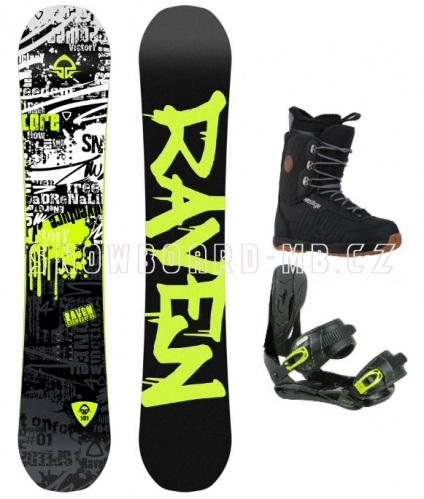 Dětský a juniorský snowboardový set Raven Core junior s vázáním a botami - VÝPRODEJ