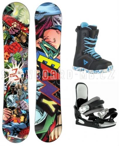 Snowboardový dětský komplet Beany Heropunch, snowboard komplety pro malé kluky