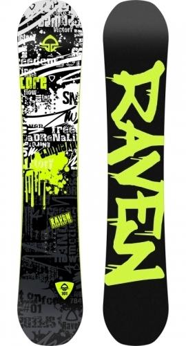 Klučíčí dětský snowboard komplet Raven Core junior - VÝPRODEJ