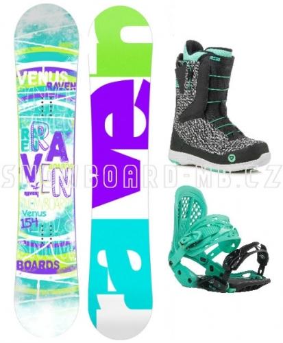Dámský snowboardový set Raven Venus s botami Fast Lace - VÝPRODEJ