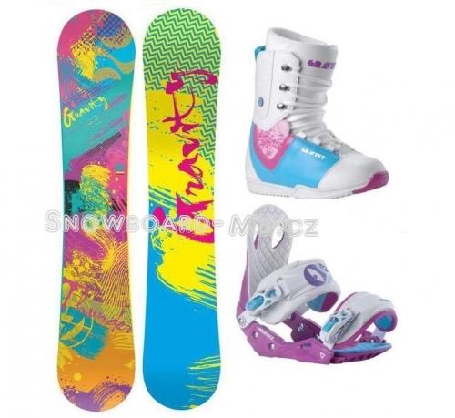 a6f7a21ce Dámský snowboard komplet GRAVITY Thunder - AKCE | SNOWBOARD-MB.cz e-shop