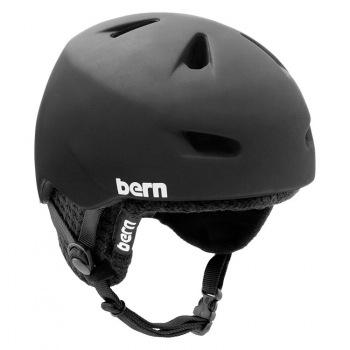 Zateplená snowboardová helma Bern Brentwood Audio Zipmold Knit - VÝPRODEJ