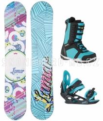 Dětský snowboard komplet Lamar Essence Mini, dětské komplety pro holky, malé děti