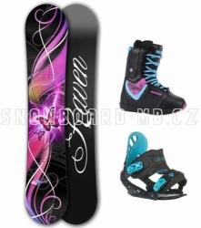 Dámský a dívčí snowboard komplet Raven Dream