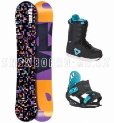Dámský snowboardový komplet Raven Grid Black