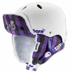 Snowboardová helma Bern Brighton gloss white/purple buffalo hunt