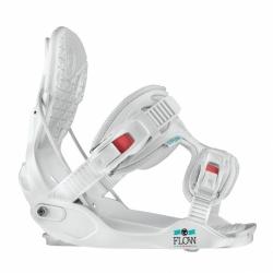 Snowboardové dámské vázání Flow Minx white s vyklápěcí patkou