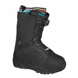 Dámské snowboardové boty s utahováním kolečkem Flow Hyku Boa black/černé