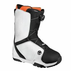 Snowboardové boty Flow Vega Boa black/white černé/bílé se stahovacím kolečkem