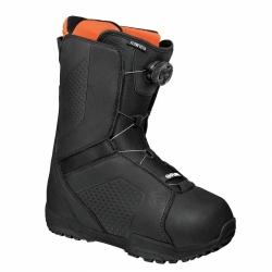 Boty na snowboard Flow Vega Boa black/černé, rychlé utahovací kolečko