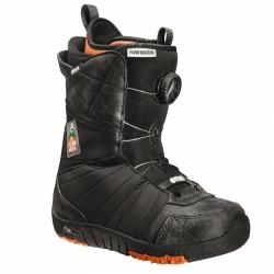 Dětské snowboardové boty s utahováním kolečkem Flow Micron Boa black/černé