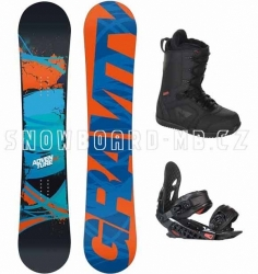 Snowboard komplet Gravity Adventure, snowboardy sety
