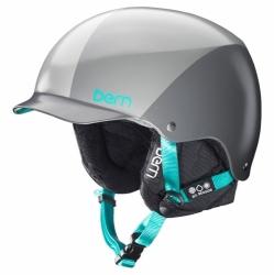 Dámská helma na snowboard Bern Muse grey sunray, dámské přilby s kšiltem