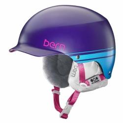 Dámská snb helma Bern Muse purple/fialová, dámské helmy na snowboard s kšiltem