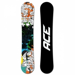 Pánský allmountain snowboard Ace Rush black/blue/orange