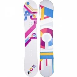 Dámský velký snowboard Ace Isnobot bílý/růžový