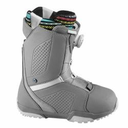 Dámské boty Flow Hyku Boa grey/white, boty na snowboard s utahováním kolečkem
