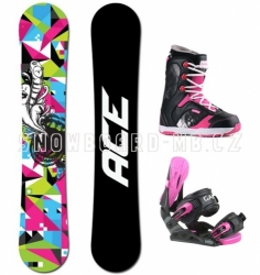 Dámský snowboard komplet Ace Demon, barevný, růžový