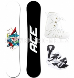 Snowboardový set Ace Crusader white