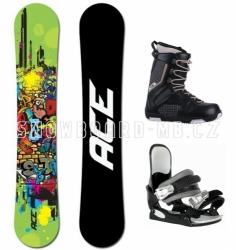 Dětský snowboardový komplet Ace Poison, junirský snowboard set s botami