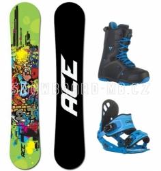 Snowboard komplet Ace Poison zelený/modrý