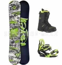 Snowboardový komplet Raven Core zelený