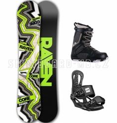 Snowboardový komplet Raven Core Carbon černý