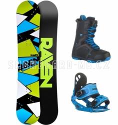 Snowboard komplet Raven Shape black/blue, pánské snowboardové sety s botami