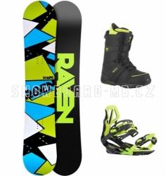 Pánský snowboardový komplet Raven Shape black/green