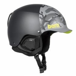 Snowboardová přilba Bern Baker Matte black maskáč s kšiltem