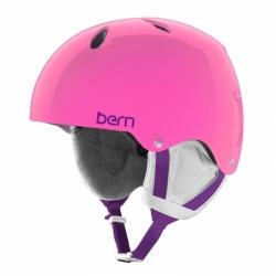 Dívčí lyžařská a snowboardová helma Bern Diablo translucent pink / růžová