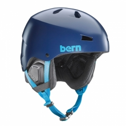 Snowboardová helma Bern Macon Satin navy blue