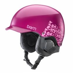 Dámská snb helma Bern Muse Satin magenta vínová, dámské přilby na lyže a snowboard