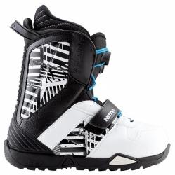 Dětské boty Nitro Barrage QLS youth black, stahovací systém a suchý zip