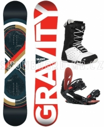 Snowboard komplet Gravity Silent red/white