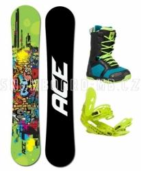 Snowboardový komplet Ace Poison zelený, juniorský nebo pánský set
