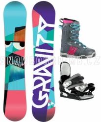 Dámský snowboardový set Gravity Voayer s vázáním a botama