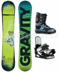 Dětský snowboard komplet Gravity Flash, levné dětské snb komplety pro začátečníky